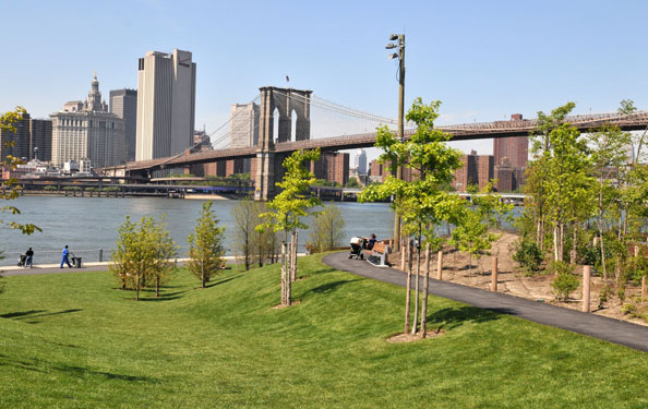 Le Brooklyn Bridge Park et sa vue sur Manhattan