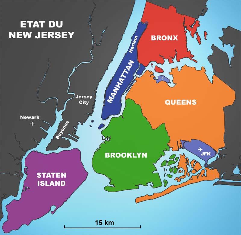 carte new york quartier Quartiers de New York : ceux à la mode et ceux à éviter !