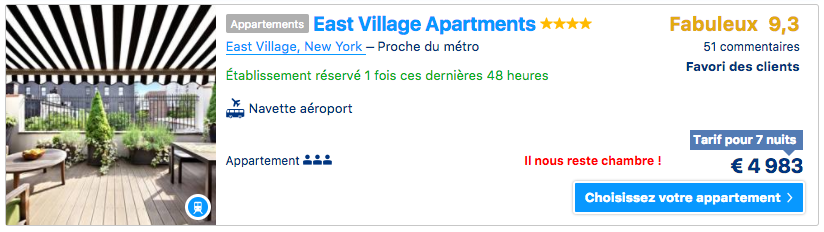 east village appartement ny