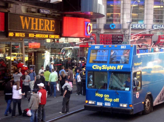 bus touristique new york