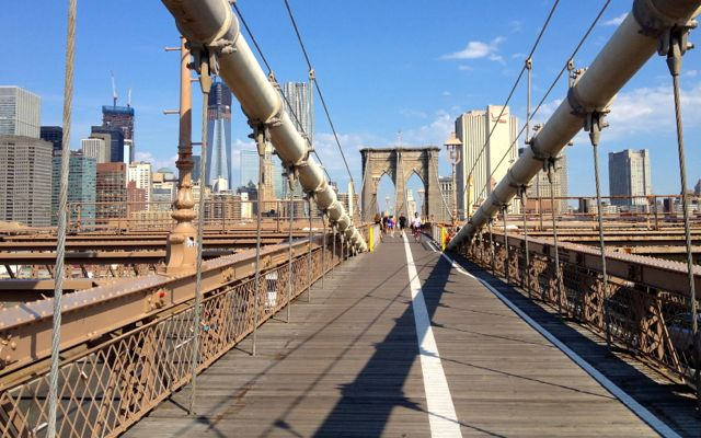 promenade sur le brooklyn bridge
