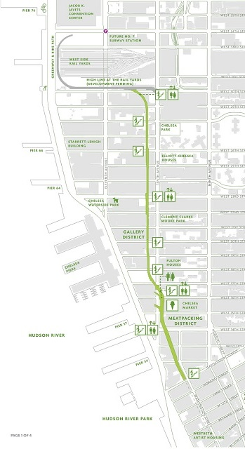 plan de la Green Line à NYC